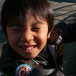 男の子の笑顔